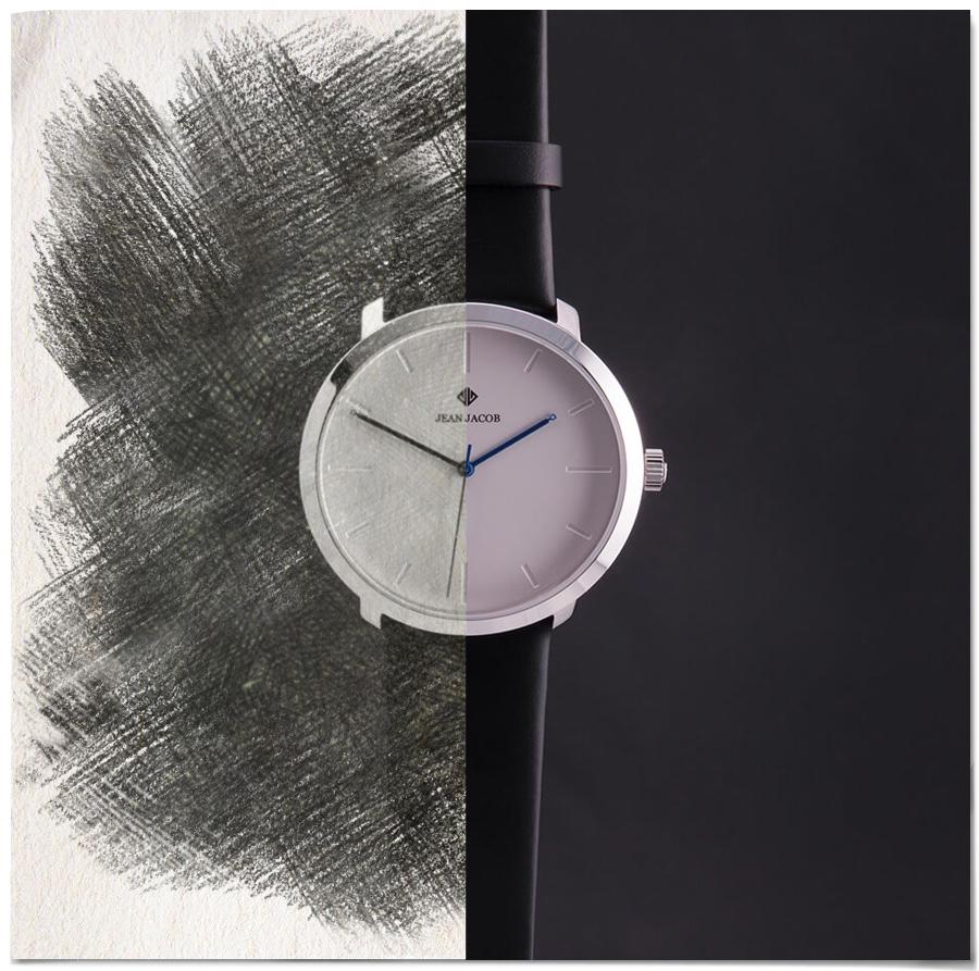 Modern Copenhagen Watch Half Sketch