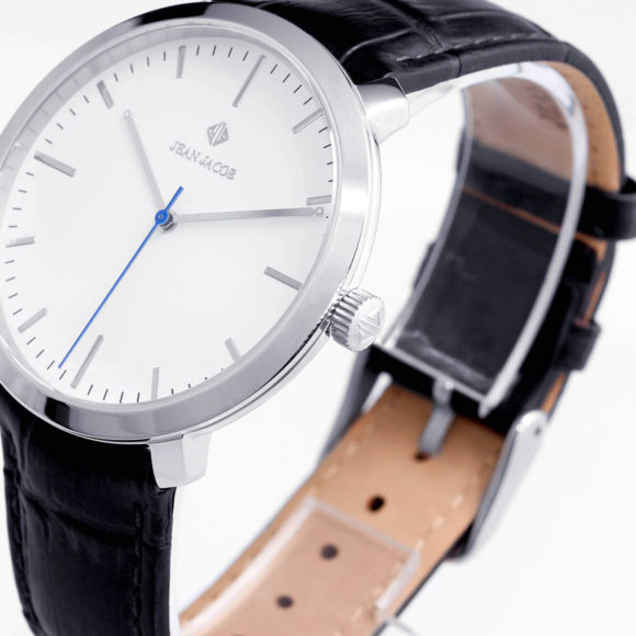 Corner View of Stainless Steel 40mm Unisex JEAN JACOB Watch