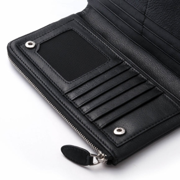 Milan Black Leather Wallet Unisex JEAN JACOB2